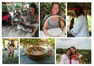Trommelbau mit Maria Cristina - Izamal - Mexico