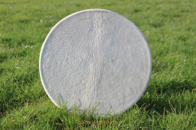 Schamanische Trommel mit Pferdefell weiß